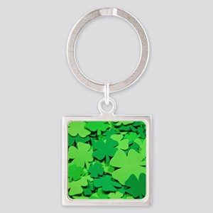 Lucky green clovers Keychains