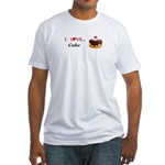 I Love Cake Fitted T-Shirt