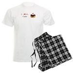 I Love Cake Men's Light Pajamas