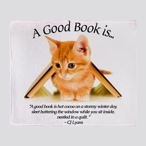 Kittens and Books #2 Throw Blanket