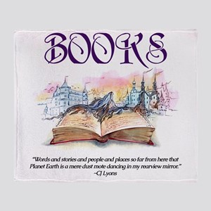 Fantasy Books Throw Blanket