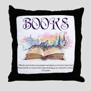 Fantasy Books Throw Pillow