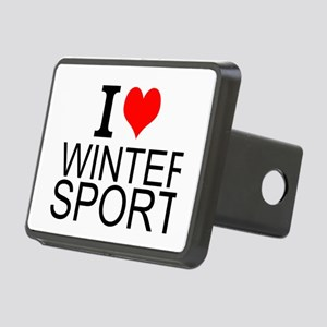 I Love Winter Sports Hitch Cover