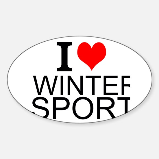 I Love Winter Sports Decal