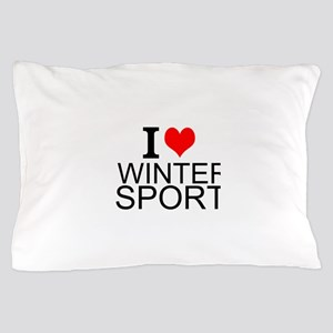 I Love Winter Sports Pillow Case