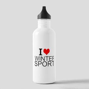 I Love Winter Sports Water Bottle