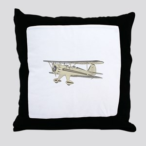Waco Biplane Throw Pillow
