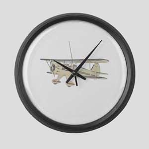 Waco Biplane Large Wall Clock