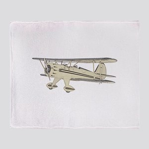 Waco Biplane Throw Blanket