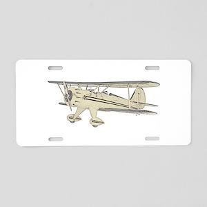 Waco Biplane Aluminum License Plate