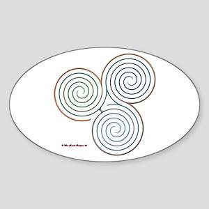 Three Realms Labyrinth Oval Sticker