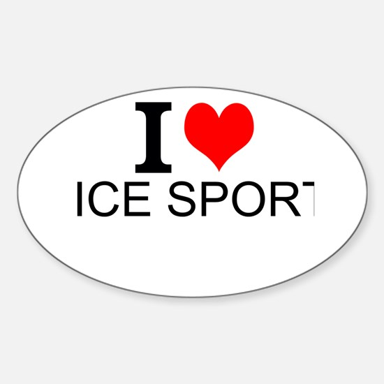 I Love Ice Sports Decal