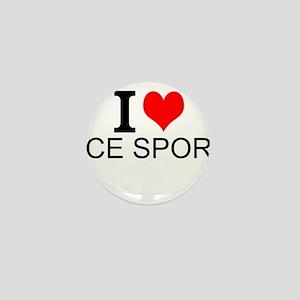 I Love Ice Sports Mini Button
