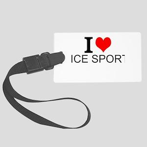 I Love Ice Sports Luggage Tag
