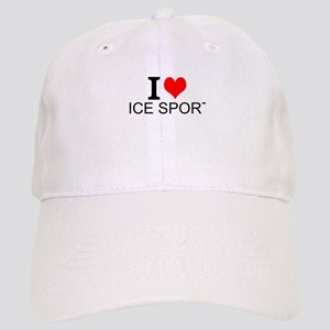I Love Ice Sports Baseball Cap