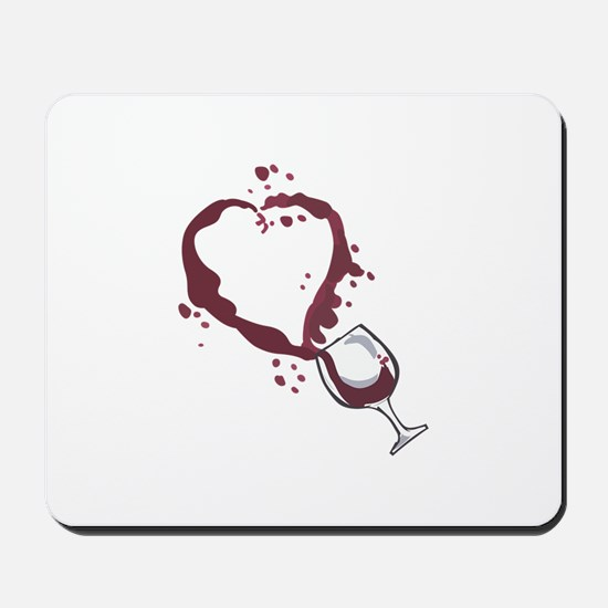 SPILLED WINE Mousepad
