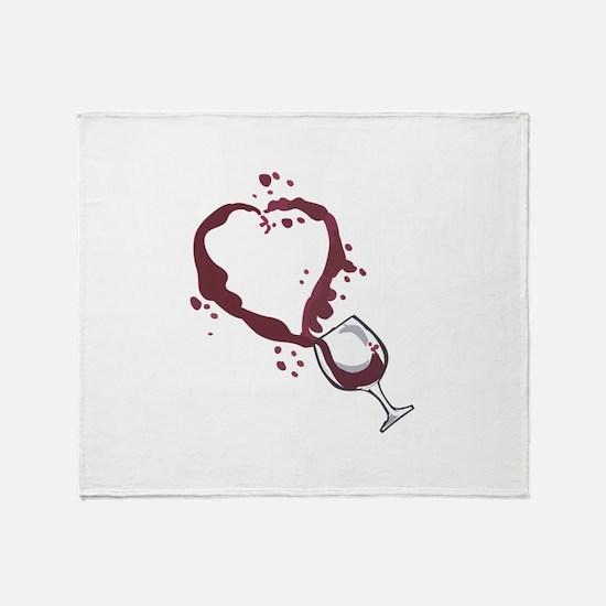 SPILLED WINE Throw Blanket