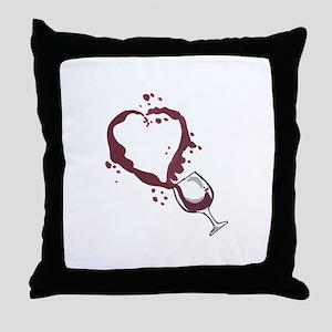 SPILLED WINE Throw Pillow