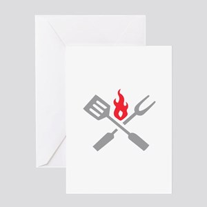 GRILLING UTENSILS Greeting Cards