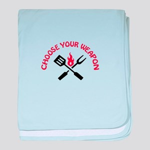 CHOOSE YOUR WEAPON baby blanket