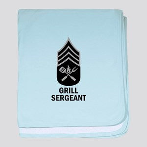 GRILL SERGEANT 2 baby blanket