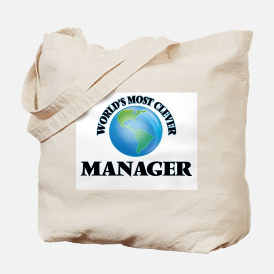 World's Most Clever Manager Tote Bag