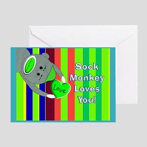 Terminally ill greeting cards cafepress sock monkey sick child greeting cards m4hsunfo