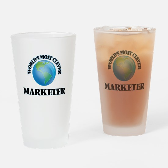 World's Most Clever Marketer Drinking Glass
