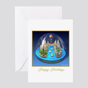 holiday snowglobe Greeting Cards
