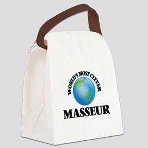 World's Most Clever Masseur Canvas Lunch Bag