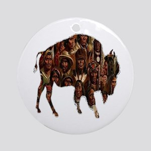 BUFFALO Round Ornament