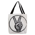 Peace Polyester Tote Bag
