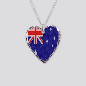 Vintage ink Australian Flag. Necklace