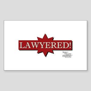 HIMYM Lawyered Sticker (Rectangle)