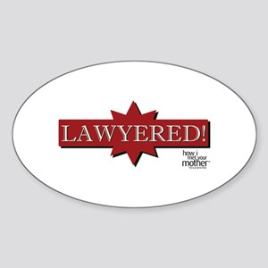 HIMYM Lawyered Sticker (Oval)
