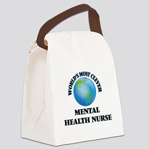 World's Most Clever Mental Health Canvas Lunch Bag
