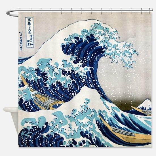 Hokusai Shower Curtain