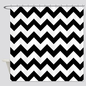 Black White Chevron Shower Curtain