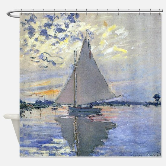 Claude Monet Sailboat Shower Curtain