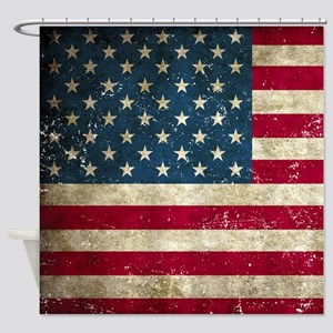 USA Flag Shower Curtain