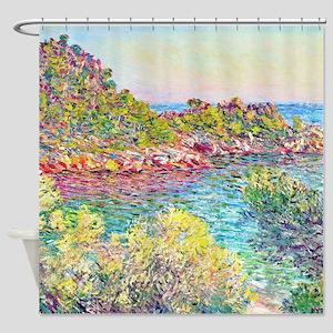 Monet Landscape Monte Carlo Shower Curtain