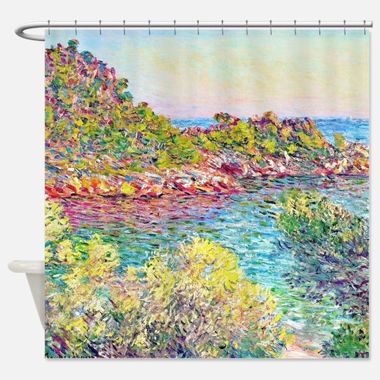 Monet Landscape Monte Carlo Shower Curtain
