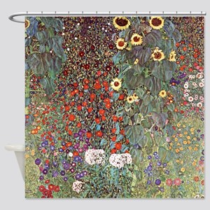Country Garden With Sunflowers Shower Curtain
