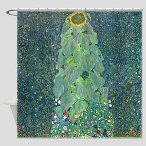 Gustav Klimt Sunflower Shower Curtain