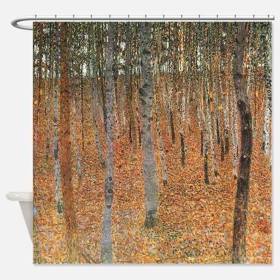 Gustav Klimt Beech Grove 1 Shower Curtain