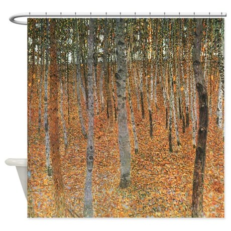 Gustav Klimt Beech Grove 1 Shower Curtain