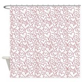 Happy valentine heart red Shower Curtains