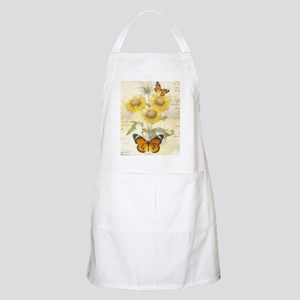 Sunflowers and butterflies Apron