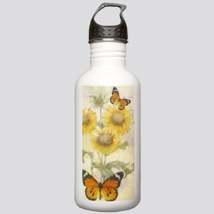 Sunflowers and butterf Stainless Water Bottle 1.0L