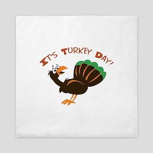 ITS TURKEY DAY Queen Duvet